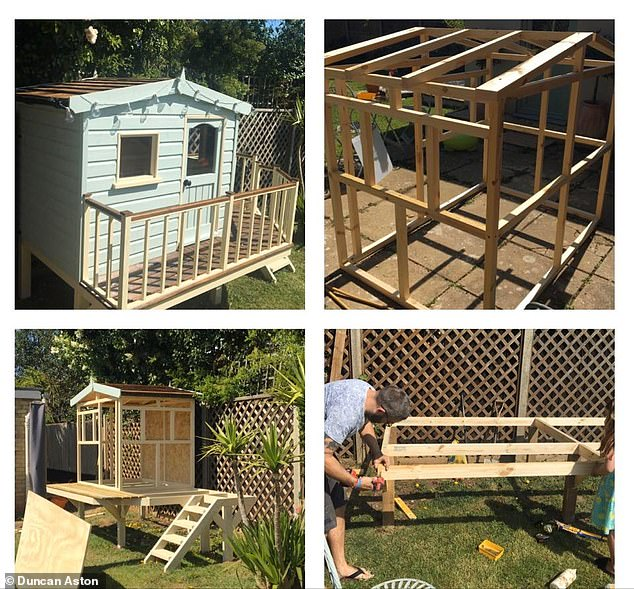 Duncan built an amazing den/summerhouse in his garden with the help of his family. He did the construction, his children took on the painting and his partner decorated - a real team effort!