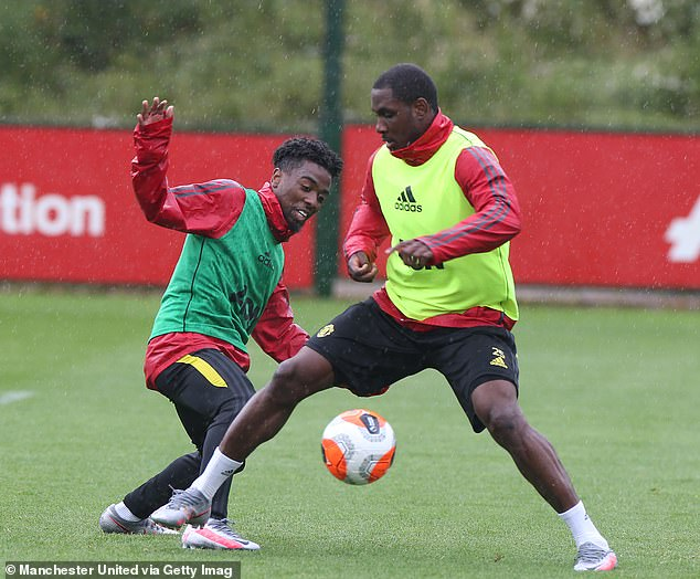 But Gomes, here in training last week with Odion Ighalo, has not agreed fresh contract terms