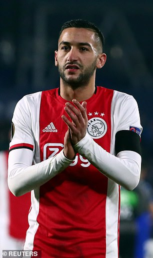 Ajax star Hakim Ziyech was also confirmed as a major signing for next season