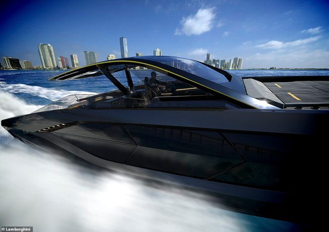 The yacht is powered by a pair of V12 engines, each producing 2,000hp and providing enough potency to hit speeds in excess of 60 knots