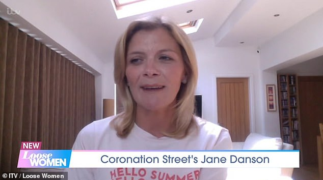 Story: Speaking previously on Loose Women, Jane said: 'This storyline had a huge sense of responsibility, as this is someone¿s story'