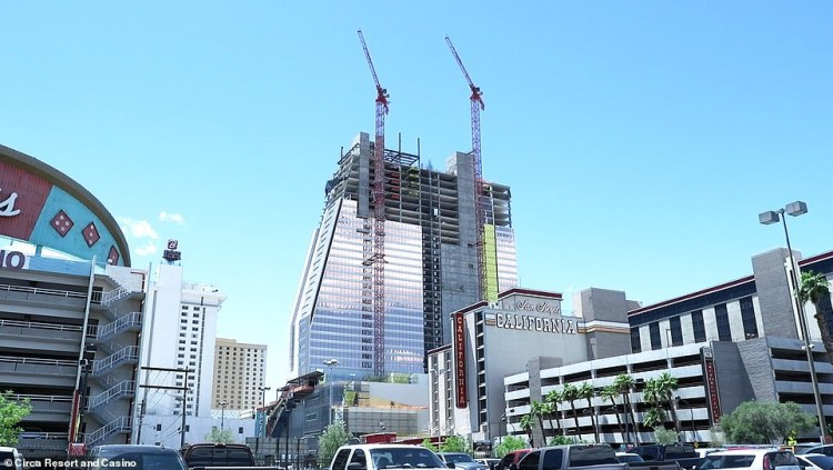 The hotel's tower will be completed and open by December 28. Reservations are open now