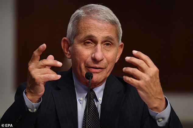 Dr. Anthony Fauci, director of the National Institute for Allergy and Infectious Diseases, testified that the U.S. could start seeing up to 100,000 infections each day