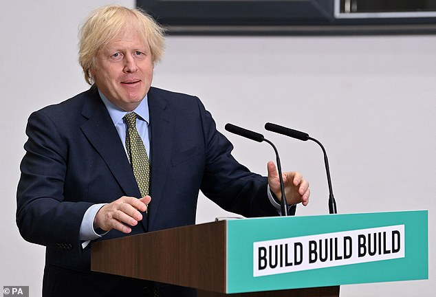 Defying mounting fears about spiralling government debt, Mr Johnson today hailed a programme of public works