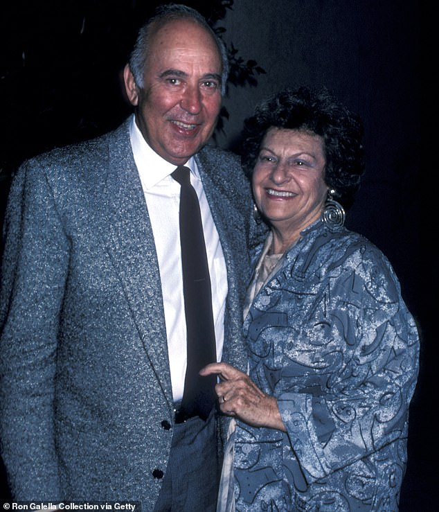Loving couple: Carl and his wife Estelle Reiner in Los Angeles in 1986