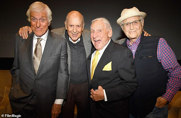 Golden oldies: Dick Van Dyke, Carl Reiner, Mel Brooks and Norman Lear at the LA Premiere of If You're Not In The Obit, Eat Breakfast from HBO Documentaries on May 17, 2017 in LA