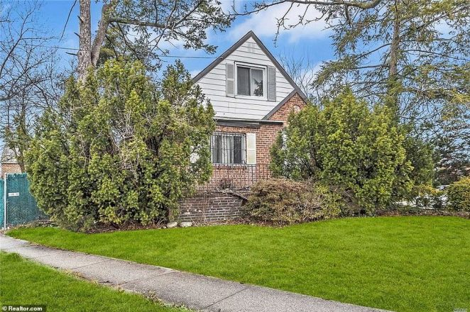 Disguise! A seemingly-picturesque home in Fresh Meadows, Queens has hit the market for $828,888 - but interior images reveal the property is actually in a horrific state of decay