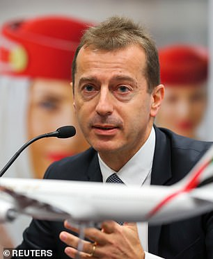 In a statement released today, Airbus CEO Guillaume Faury (pictured) said the company's future was at stake after the coronavirus pandemic rocked the air travel industry