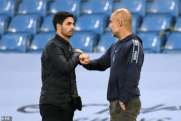 Mikel Arteta is still in close contact with Pep Guardiola despite leaving Manchester City