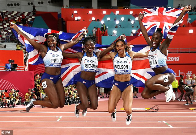 Asher-Smith won 200m gold, 100m silver and 400m relay silver at 2019 world championships