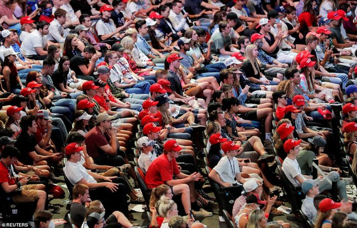 ARIZONA: About 3,000 mask less students crowded together last week for an indoor rally in Phoenix with President Trump