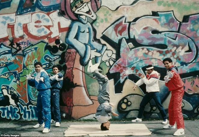During the 1970s, many landlords couldn't or wouldn't pay their property taxes and let their buildings fell into disrepair. Many buildings were abandoned and boarded up. There were also fires in the Bronx. Hip hop is said to have started in the Bronx in the 1970s. Above, teenagers breakdance next to a wall with graffiti in the Bronx in 1984