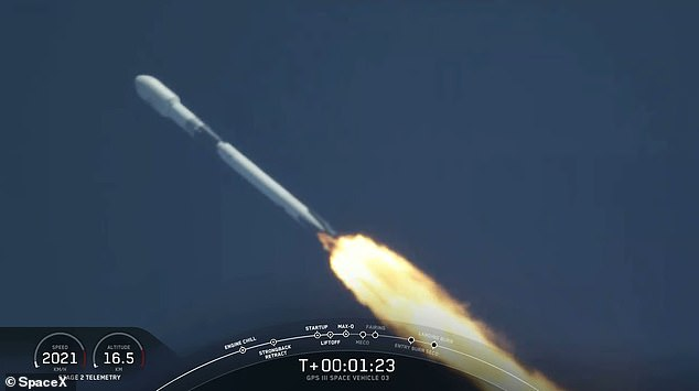 Falcon 9 took off from Kennedy Space Center in Cape Canaveral 4:10 pm ET and hit sonic speeds after a minute or so following lift off. The rocket reached orbit and the fairing fell away from the vehicle, which will be scooped out of the Atlantic
