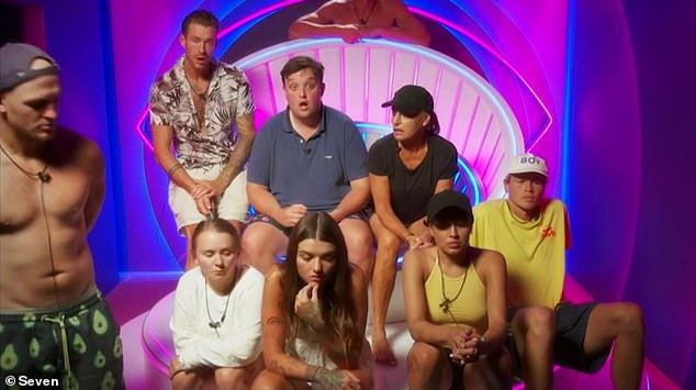 Blindsided: In dramatic scenes, the contestants gather in the diary room, where they are told that a 'crew member has come into contact with a confirmed coronavirus case'