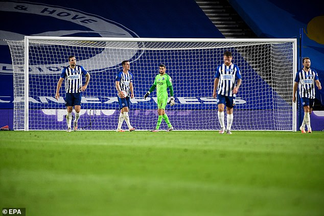 Brighton suffered their first defeat since the Premier League season restarted following coronavirus pandemic