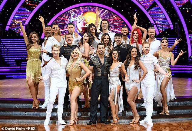 Precautions:In a last minute change of plan, the couples will instead be in a 'bubble' system and there will be regular testing ahead of the live shows, The Sun reports (pictured the 2019 cast)
