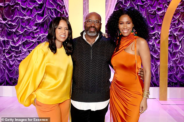 The authors of the essay, 'Black Female Anonymous' called for the resignation of CEO Richelieu Dennis (center)  Essence Ventures board member Michelle Ebanks (left)  COO Joy Collins Profet, and Chief Content Officer Moana Luu (right) for allegedly creating an 'extremely unhealthy work culture'