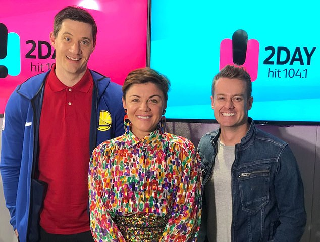 Ouch! Mumbrella reports the dig was over Ed's failed breakfast show with Em Rusciano and Grant Denyer, which aired back in 2018 (the trio are pictured)