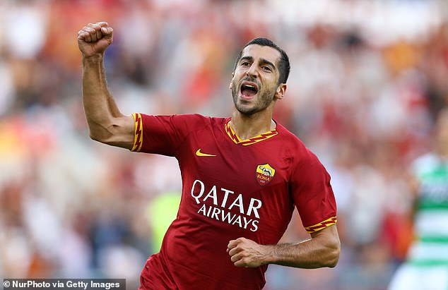 Roma have extended Henrikh Mkhitaryan's loan from Arsenal to the end of the season