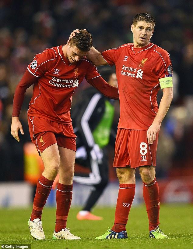Jordan Henderson paid tribute to Steven Gerrard after Liverpool won the Premier League