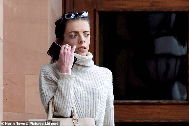 Sophie Johnson, pictured at Newcastle Crown Court, admitted having sexual contact on three occasions with a 14 year old boy she had met on the internet