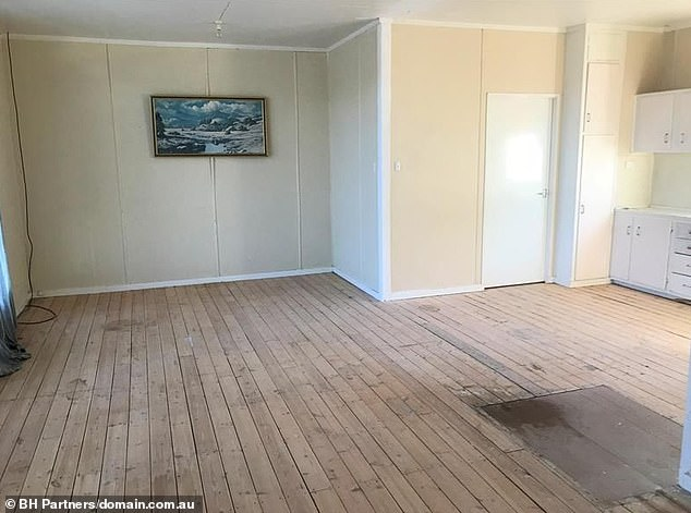 The advertisement states: 'The house does need a new hot water system, the plumbing would need checking and fixing, the rainwater tank needs replacing and there is a small hole/leak to the lounge ceiling which needs repair'