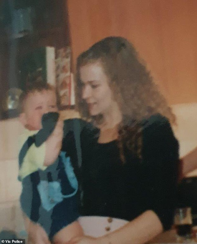 Ms Davison pictured with her son Luke. She has not been seen for 25 years