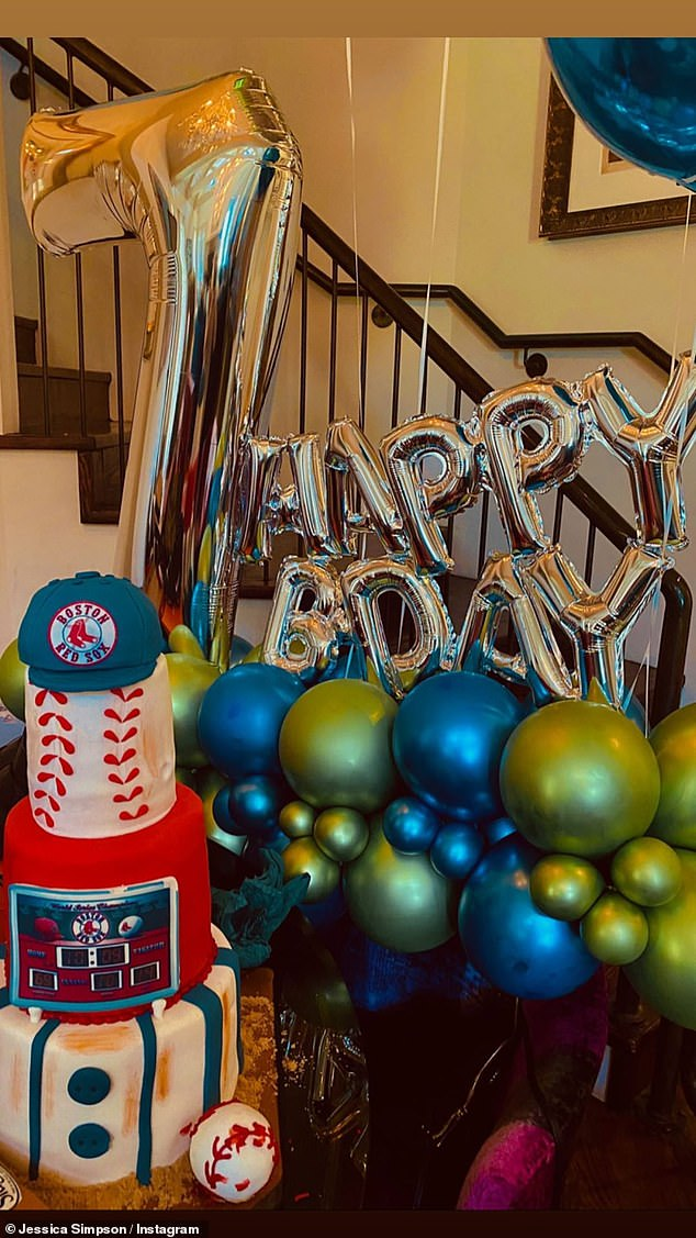 Luxe life: The singer spared no expense in putting together the baseball-themed soiree