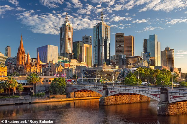 Economists believe Melbourne (pictured) is one of the most prosperous cities in Australia thanks to its moderate climate