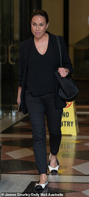 Dr Steel's practice managerStephanie Jobson leaving court on Wednesday