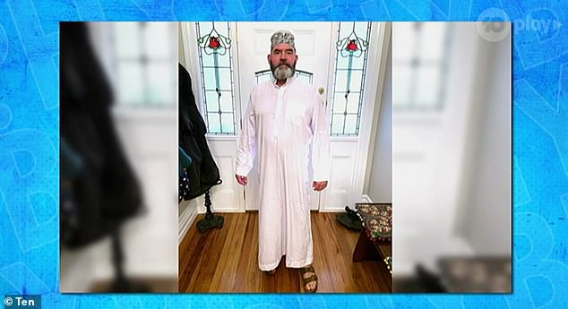 Is it wrong? During the show, Marty shared this photo of himself wearing what appeared to be a traditional ethnic outfit. 'I was going for a sort of a mining magnate, Dubai feel,' he said