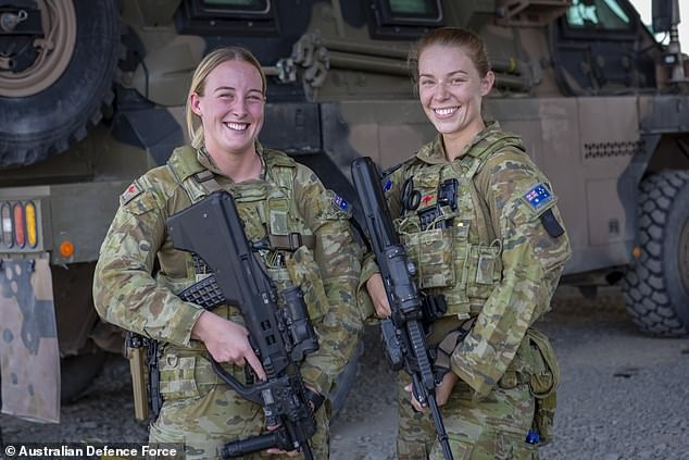 Australian troops (soldiers Private Samantha Dickins and Private Maddison Hamilton) face the biggest deployment in an Asian war since Robert Menzies sent forces to the Korean War in 1950 and to the Vietnam War in 1962