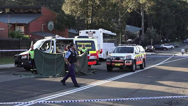 The girl was hit outside Ulladulla High School, where she is a student, in Ulladulla on the NSW South Coast about 3pm on Wednesday
