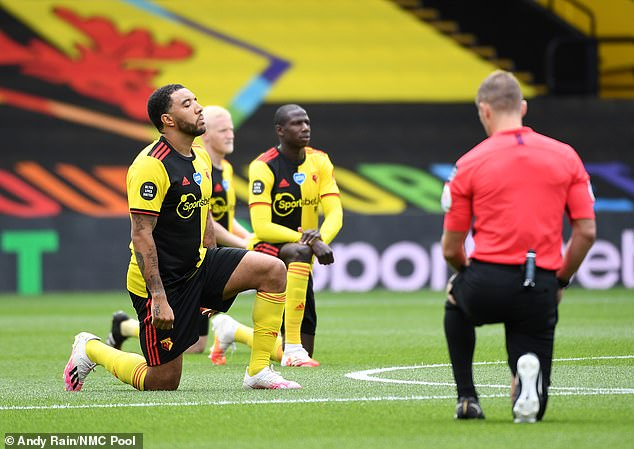 Premier League players having been taking a knee before every match since the restart