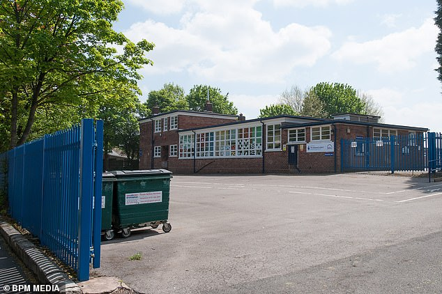 It was said that it was likely that the school, in the photo, would be closed until the end of the week, with the