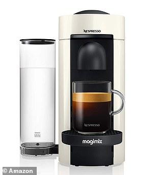 The Nespresso White Vertuo Plus Coffee Machine