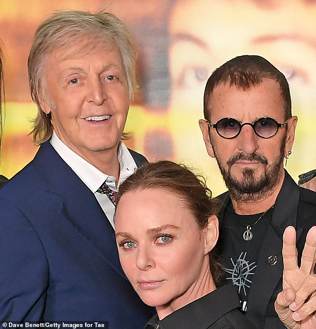 Pals: Ringo and Paul, pictured with the latter's daughter Stella in September