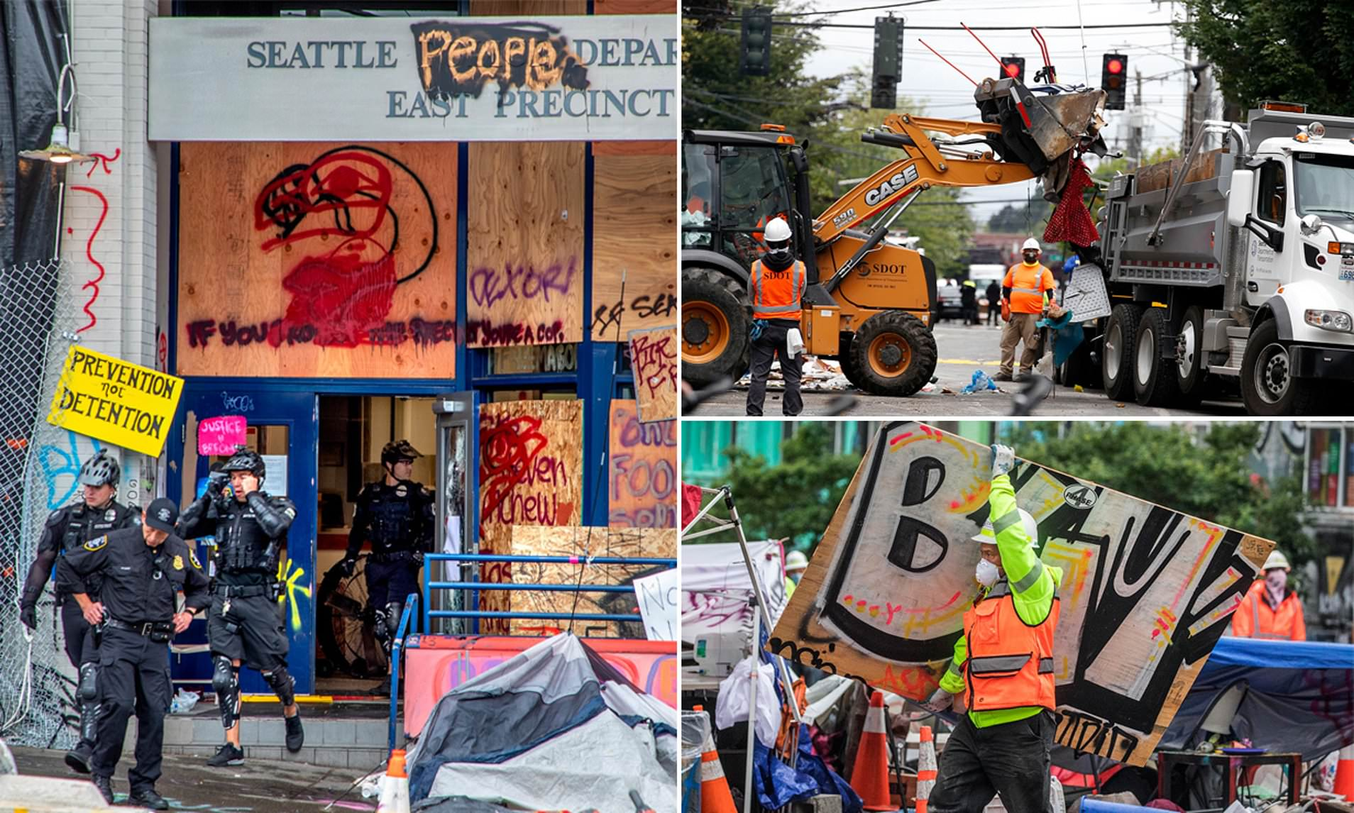 Bulldozers Crush Camp At Chop Seattle S Cop Free Zone Daily