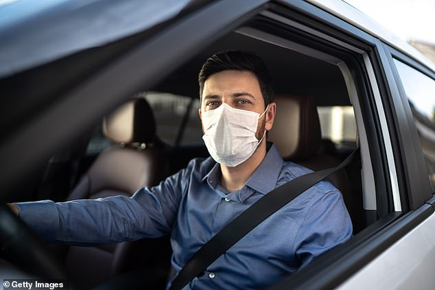 Uber announced on June 12 that from June 15, all drivers and passengers across the UK must wear face coverings during journeys, in line with government policy, to stop the spread of coronavirus (pictured: stock image)