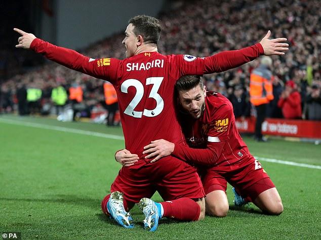 Shaqiri has made just six appearances in Liverpool's title-winning season, scoring one goal