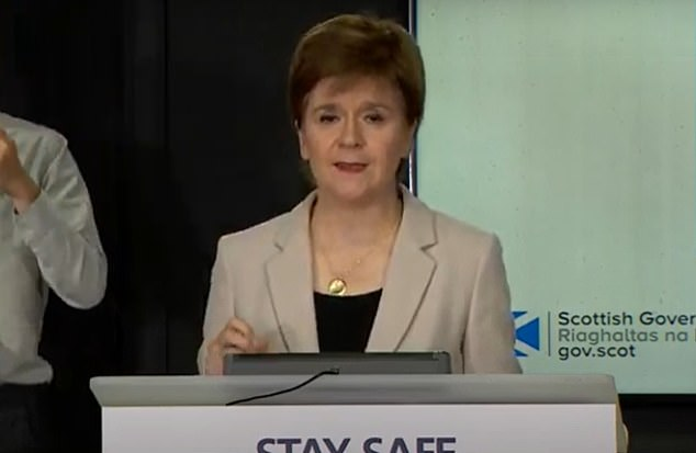 Wearing face coverings will be compulsory in shops in Scotland from July 10, Nicola Sturgeon announced today