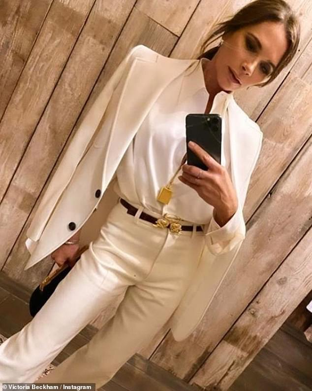 What to wear?Victoria asked her Instagram followers for their opinion on Thursday on what she should wear for her 21st anniversary date night with husband David
