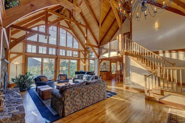 Tuckedaway – more prosaically 338 East Washington Road – is a four-bedroom, four-bathroom timber frame home which, boasted the realtor who brokered the sale, offered 'total privacy'