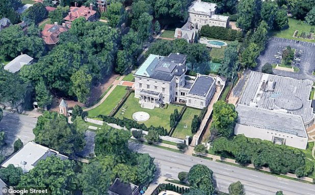 The McCloskeys' home in St Louis at One Portland Place is in a gated community