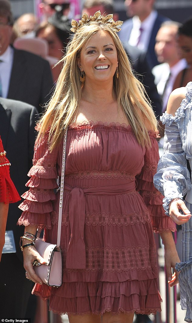 Nicky Brownless attends on Oaks Day at Flemington Racecourse in Melbourne a year after her affair with Lyon was revealed