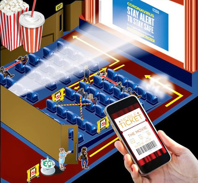 Cinemas will have allocated seats, online reservations and staggered movie times to control the crowd in the halls. Guests will be asked to wash their hands at the entrance and exit, with hand sanitizers and antibacterial soap in all toilets