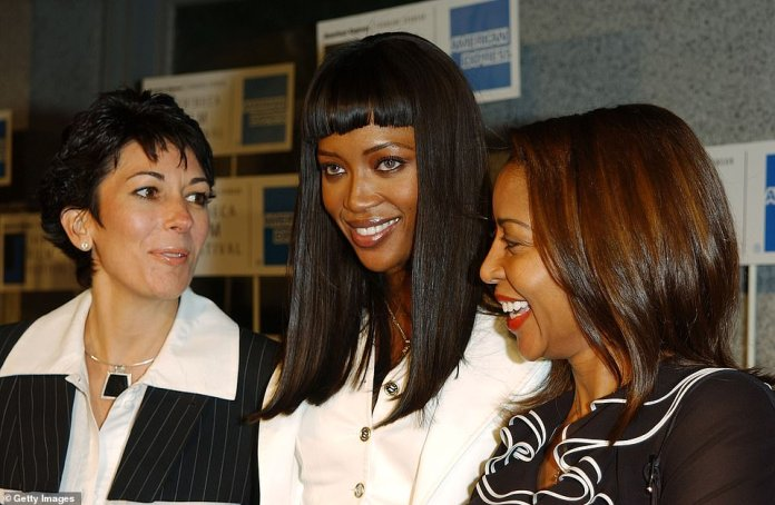 In return, she used the financier's millions to support a lavish lifestyle that included a home on Manhattan's Upper East Side, a designer clothing closet, and helicopter lessons. Maxwell is represented with the Naomi Cambell model in 2002