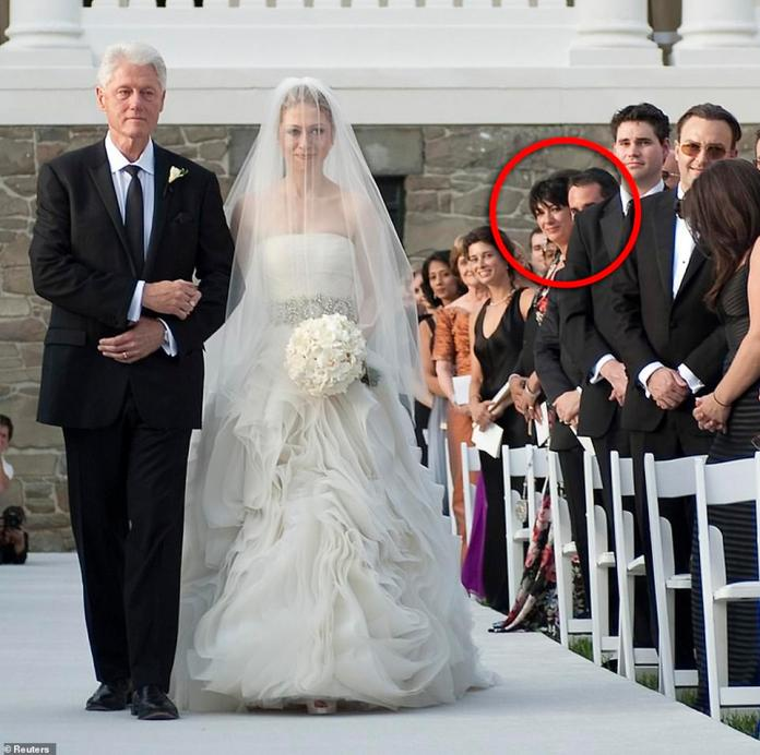 Maxwell has an amazing network of friends and high-level acquaintances. She is presented at the wedding of Chelsea Clinton in 2010