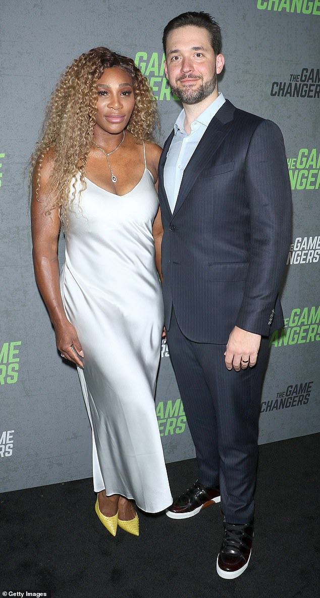 Couple: Serena self-isolated with Olympia and her husband Alexis Ohanian in their Florida complex during the coronavirus crisis. The couple is photographed in September 2019
