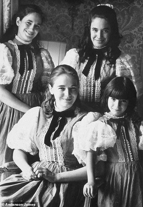 Ghislaine photographed with her sisters